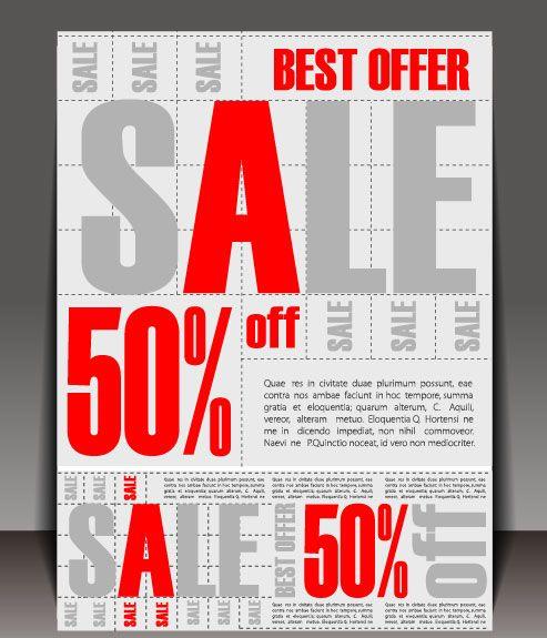 saleポスターのグラフィックデザイン ベクター素材 materialandex